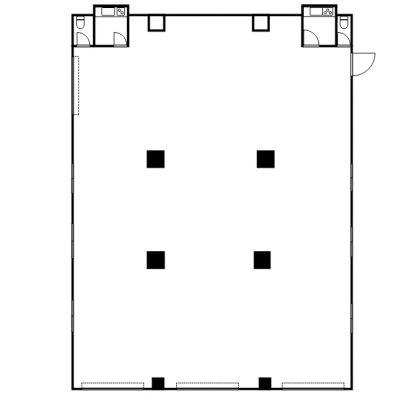コーポラス石川 店舗 1F 間取り図