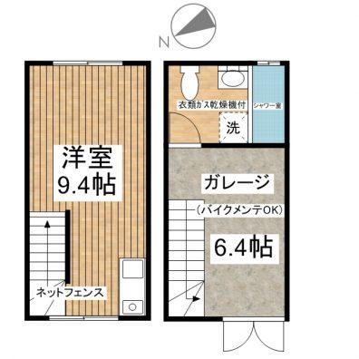 H. GARAGE 9号室 間取り図