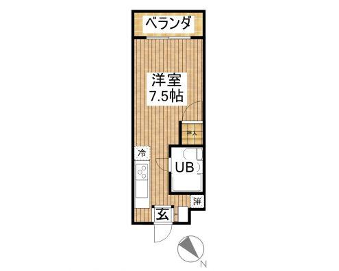 プラスⅠ石垣島 2B 間取り図