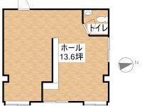 貸テナント T-ハウス店舗 1階 間取り図