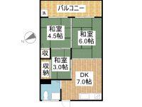 賃貸 古波蔵マンションAP 4階 間取り図