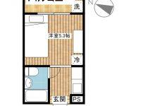 賃貸 オークラ(短期滞在型賃貸マンション) 1階 間取り図