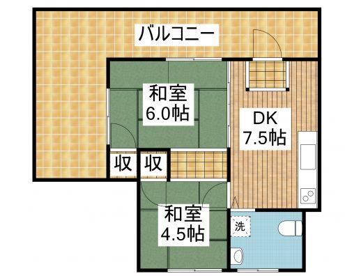 ANRIビルISHIGAKI 202 間取り図