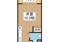 賃貸 コーポ新栄 4階 間取り図