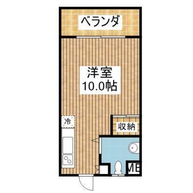 コーポ新栄 401 間取り図
