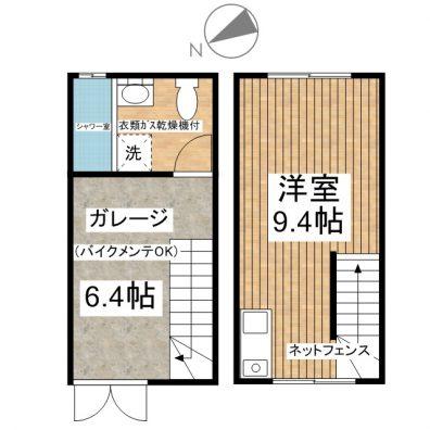 H. GARAGE 10 間取り図