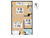 賃貸 ことぶき荘 3階 間取り図