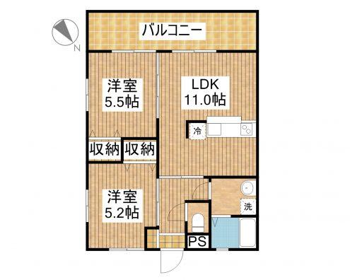 グランテージKINA 201 間取り図
