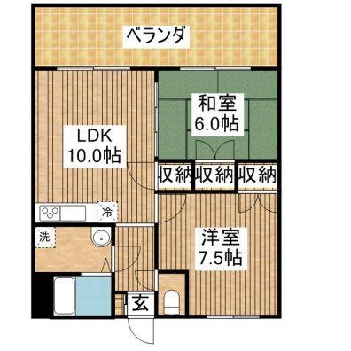 K.Kマンション 301 間取り図