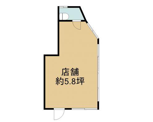 玉城テナント 1F 間取り図