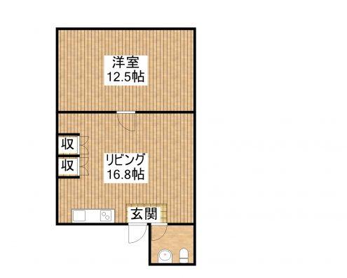 ANRIビル新栄町14 1F南 間取り図