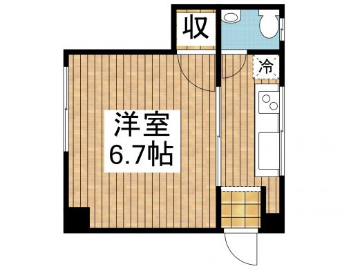 識名アパート 205 間取り図