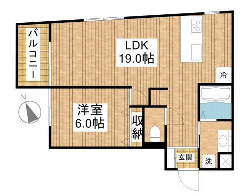 Blue Ocean Residence Ishigaki 2C 間取り図