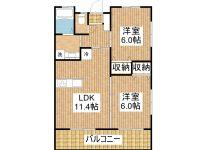 賃貸 T様新築共同住宅 2階 間取り図