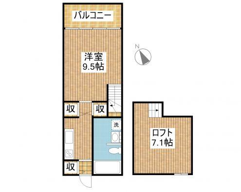 Kifa 3-Ⅱ 間取り図