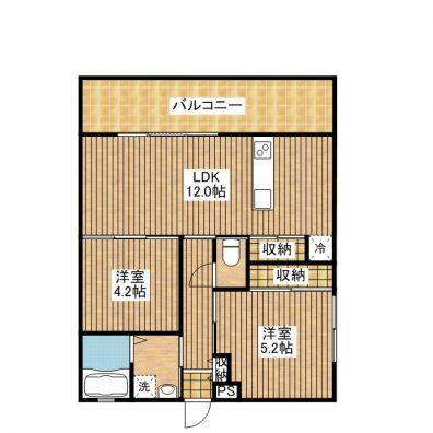 プラスⅠ石垣島Ⅱ(仮称) 403 間取り図