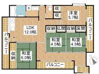 KAWAMITSUアパート 間取り図