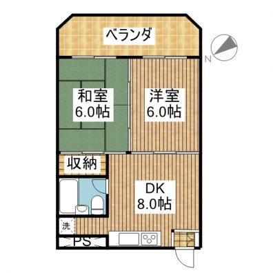 サンパレスマンション D-7 間取り図
