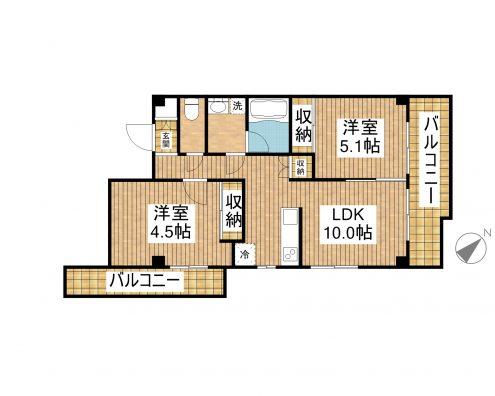 ARASHIROHOUSE Ⅱ(仮称) 202 間取り図