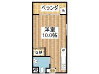 賃貸 コーポ新栄 3階 間取り図