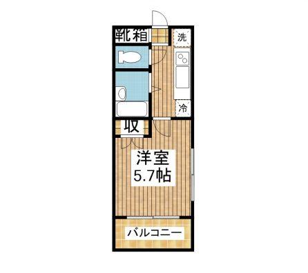 新川stay 3-B 間取り図