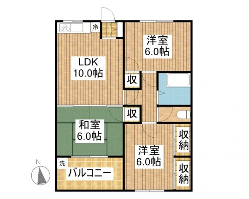 K.Kマンション 201 間取り図