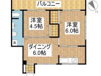 賃貸 西マンション 2階 間取り図