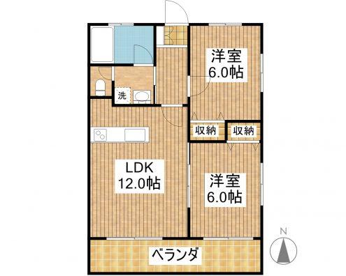 リゾートマンションビューテラス 204 間取り図
