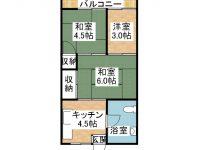 山田アパート 3階 間取り図
