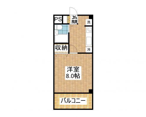 マンション東華 306 間取り図