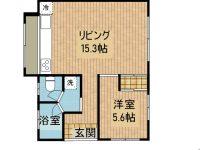 戸建 K様新川1軒屋  1階 間取り図