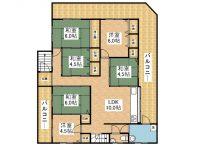 戸建 舞玄HOUSE 2階 間取り図