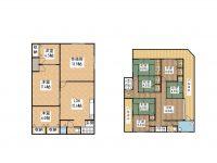 戸建 舞玄HOUSE 1F&2F 2階 間取り図
