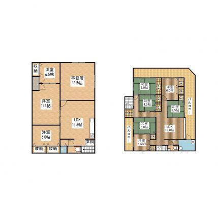 舞玄HOUSE 1F&2F 間取り図